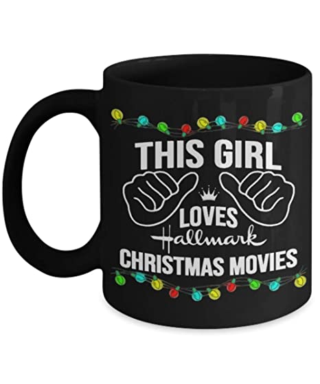 this girl loves hallmark christmas movies funny christmas coffee mugs gift for xmas christmas
