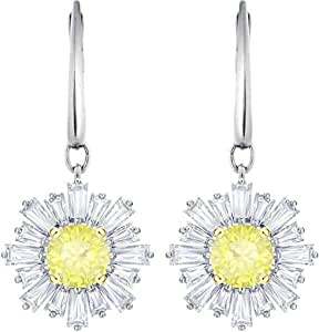 SUNSHINE DANGLE PIERCED EARRINGS WHITE RHODIUM 2019 SWAROVSKI JEWELRY 5479914