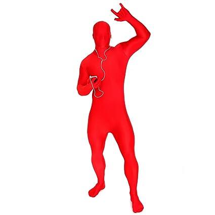 Morphsuits Adultos MSUIT Todo en uno Rojo Traje de Disfraz de Halloween - Tamaño Mediano - 5-54 (150cm-162cm)