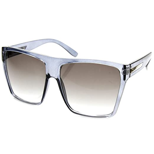 3bac39c811 Image Unavailable. Image not available for. Color  Large Oversized Retro  Fashion Square Flat Top Sunglasses ...