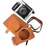 Étui/ Couverture/ Housse/ Case/ Photo sac d'appareil de protection en Cuir PU pour Fujifilm Instax WIDE 300 - Brun