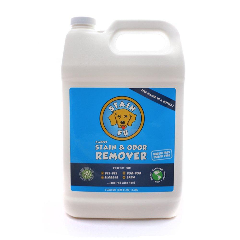 STAIN FU Carpet Stain & Odor Remover - Professional Strength Pet Odor Eliminator Home Office. Works Like Magic in a Bottle on Tough Dog & Cat Urine Pee Poop Vomit Slobber & Hundreds Spills