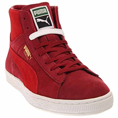 62b62a5f42a red suede high top pumas Sale