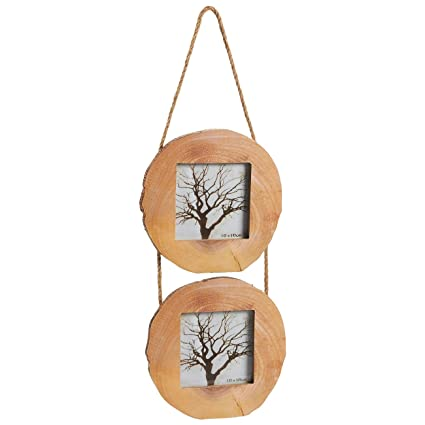 Amazon.com - Juvale Wood Picture Round Frames Rope - 2 Frames Set ...