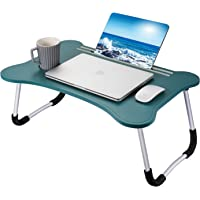 Ruiheshiyi Laptop Desk Tray Bed Table, Portable Laptop Bed Table Notebook Stand, Tray Table with Cup Slot for Reading…