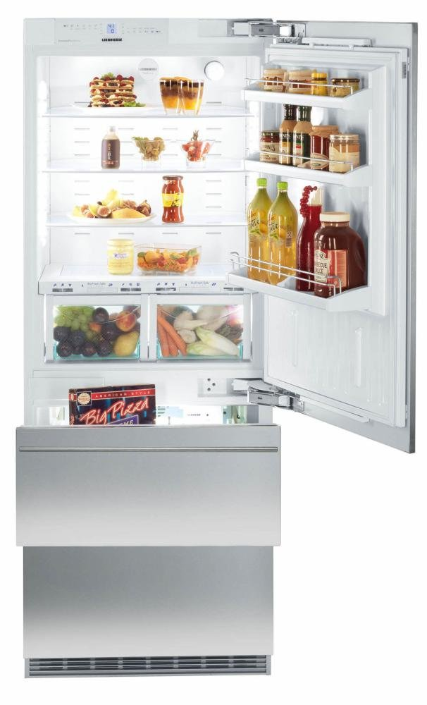 "HCB1560 30"""" Energy Star Rated Fully Integrated Right Hinge Bottom Freezer Refrigerator with 14.1 cu. ft. Total Capacity BioFresh Plumbed IceMaker DuoCooling and 3 Glass Refrigerator Shelves in Panel Ready"