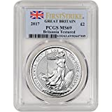 2017 UK Great Britain Silver Britannia First Strike 1 OZ MS69 PCGS