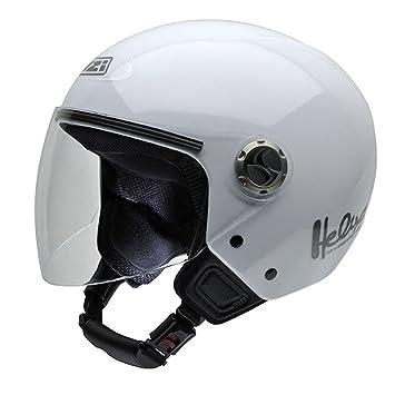 NZI 050180G001 Helix IV Casco de Moto, Color Blanco, Talla 55-56 (