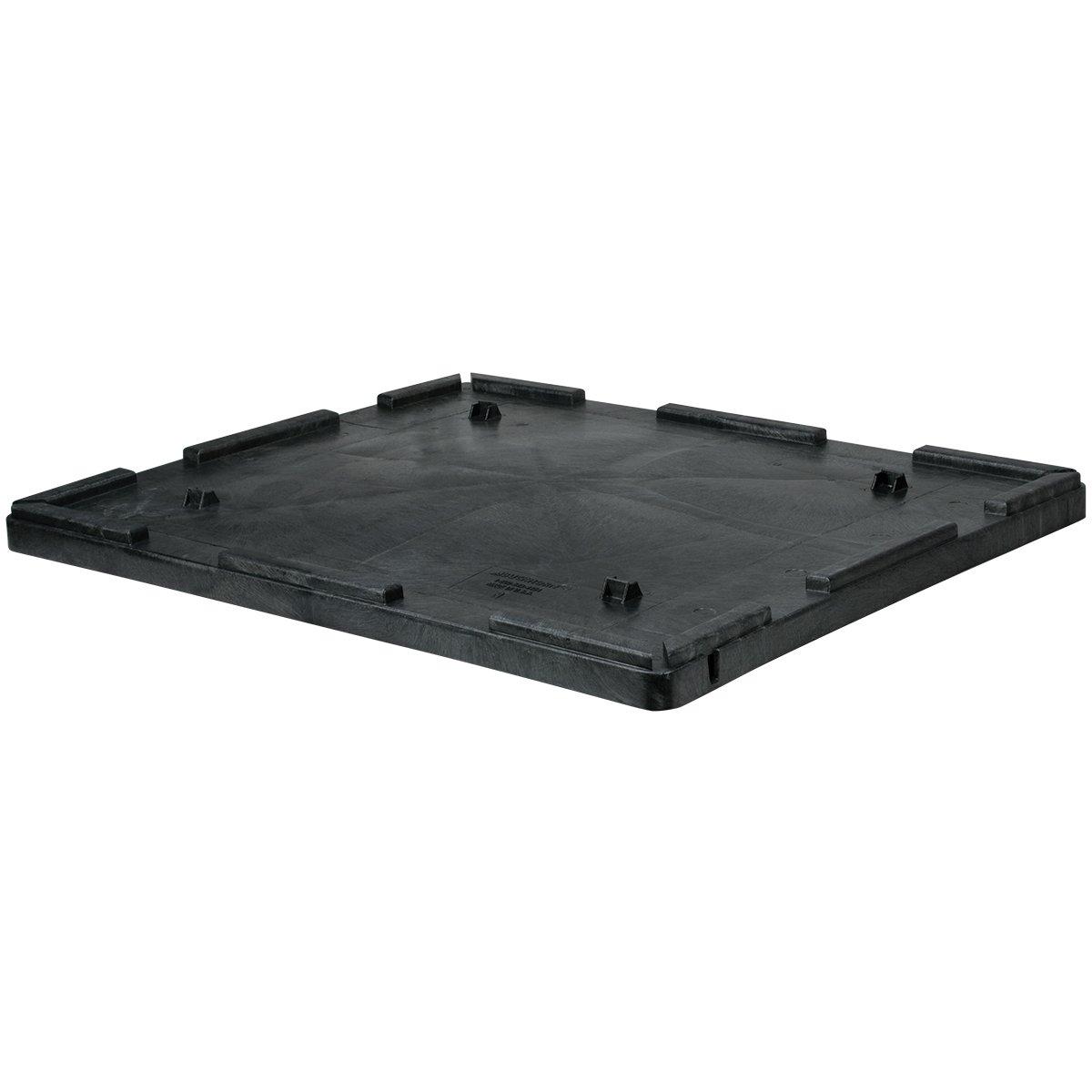 Buckhorn TL4844030010000 48'' x 44'' Structural Foam Bulk Container Lid, Black