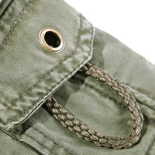 NiuZi Men Military Cargo Pants Loose Fit Multi-Pocket Cargo Trousers Cotton Cargo Work Pants