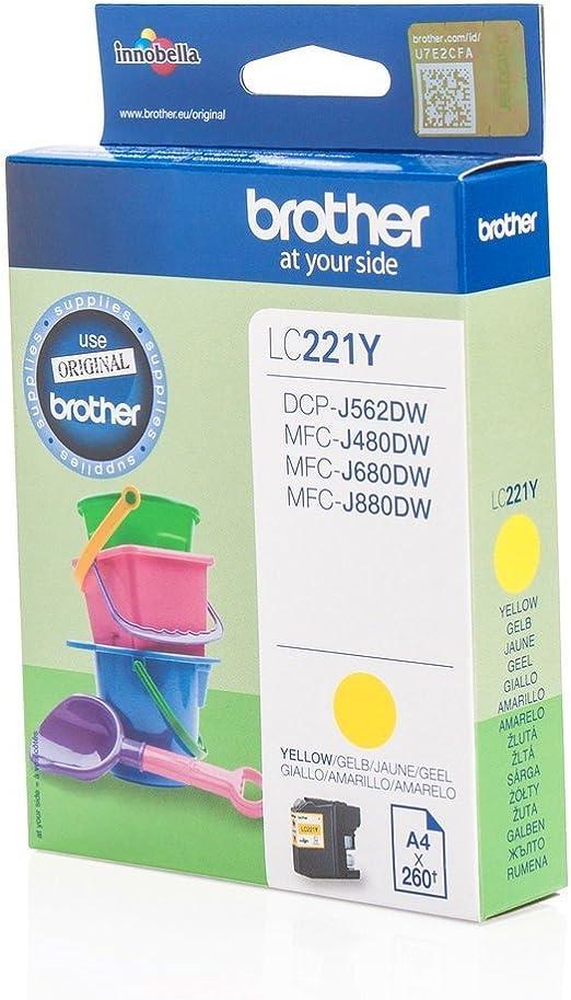 Brother Original Lc221y Für Mfc J 480 Dw Premium Elektronik