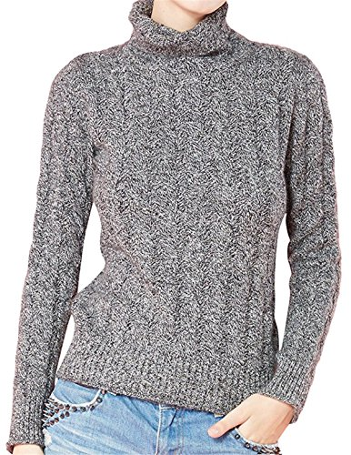 Cashmere Vintage Sweater (Women's Cashmere Long Sleeve Turtleneck Vintage Pullover Sweater Small Gray)