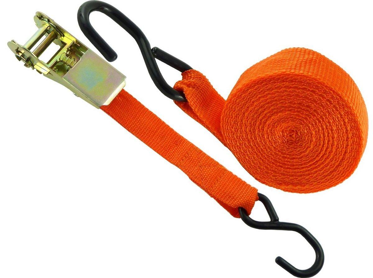 Heavy Duty 1 Nylon Coated Hooks. XtremeAuto/® 15 x 1 Ratchet Strap and Tensioner