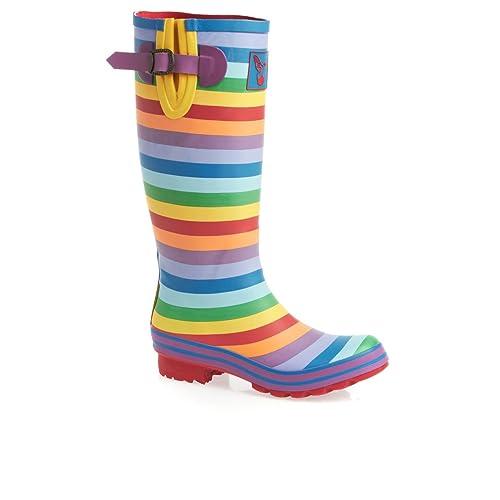 c46b684b50e Evercreatures Womens Rainbow Wellington Boots  Amazon.co.uk  Shoes ...