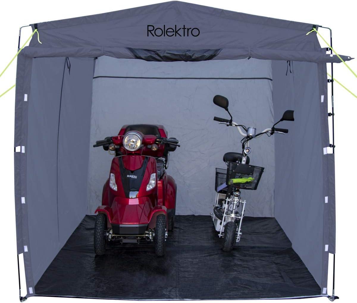 E-Roller Scooter E-Bike Garagenzelt Ger/ätezelt Rolektro XXL Fahrrad Garage 290x200x195cm Fahrrad-Zelt