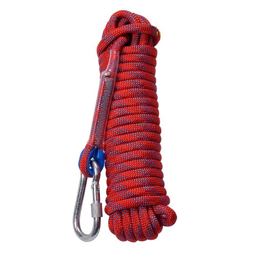 HCC& 12Mm / 10-50M De Plein Air Corde d'escalade Sauvetage d'urgence Alpinisme en Rappel Sling De Sécurité avec Mousqueton