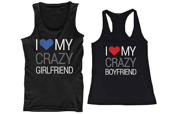 I Love My Crazy Boyfriend and Girlfriend camiseta sin mangas a ...
