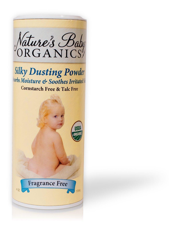 Nature's Baby Organics Silky Dusting Powder Fragrance Free - 4 Oz, 6 pack NATURE' S BABY ORGANICS