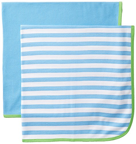 Gerber Baby Boys' 2 Pack Thermal Blankets, Blue, One Size