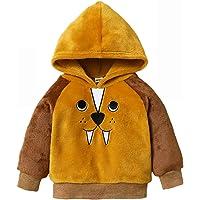 Baby Boy Girl Cartoon Animal Hoodie Coat Lightweight Fleece Pullover Sweatshirt Outerwear Clothes