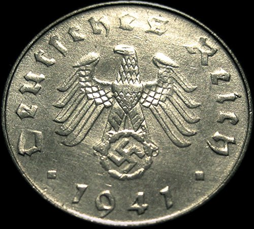 Authentic Germany Third Reich 10 Pfennig Coin World War II