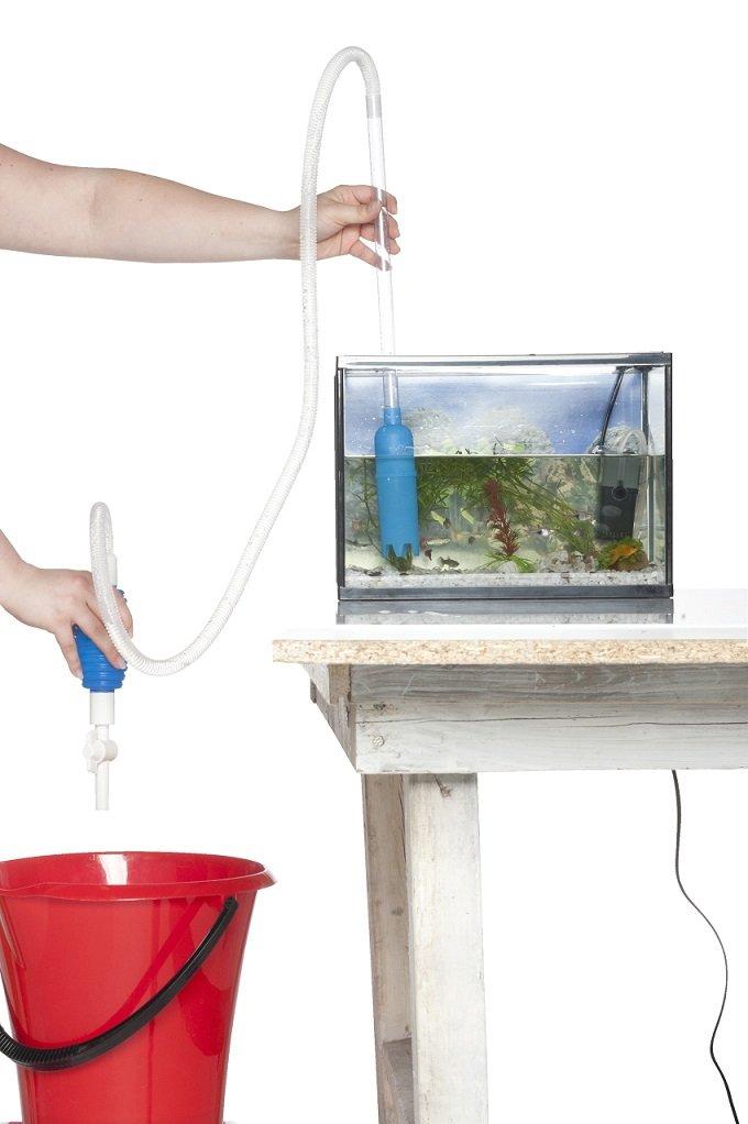 Aspirateur pour fond d'aquarium - Aspirateur Siphon Poisson Pompe Neuf dc