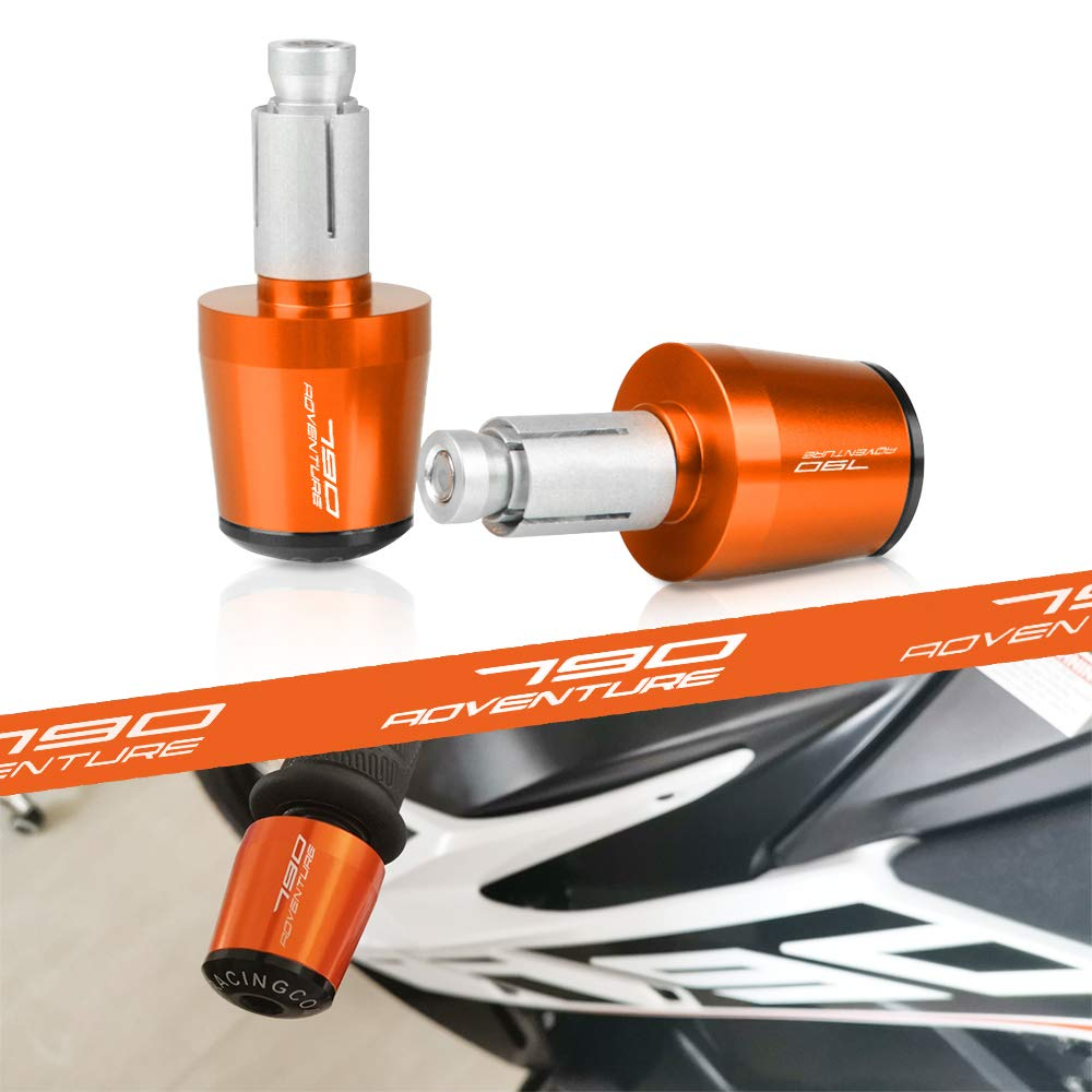 790 Adventure Contrappesi per manubrio,Set Moto Manubrio Blocco Manopole Tappo Per KTM 790 ADVENTURE R 2019-Arancione