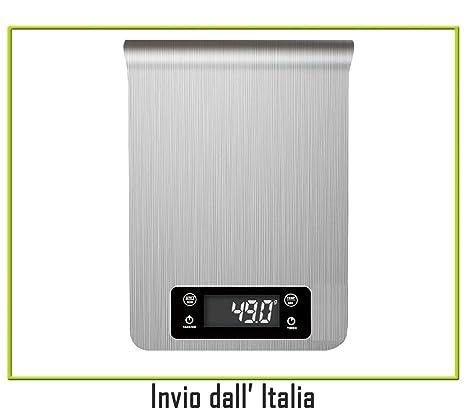 Newnet Báscula electrónica Digital de Cocina de Alimentos en Acero Inoxidable min. G MAX.