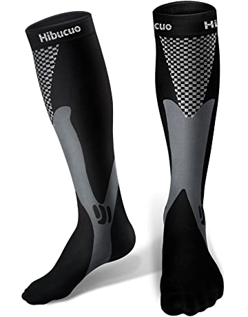 Hibucuoo Chaussettes de Compression pour Hommes et Femmes b7848a49be2