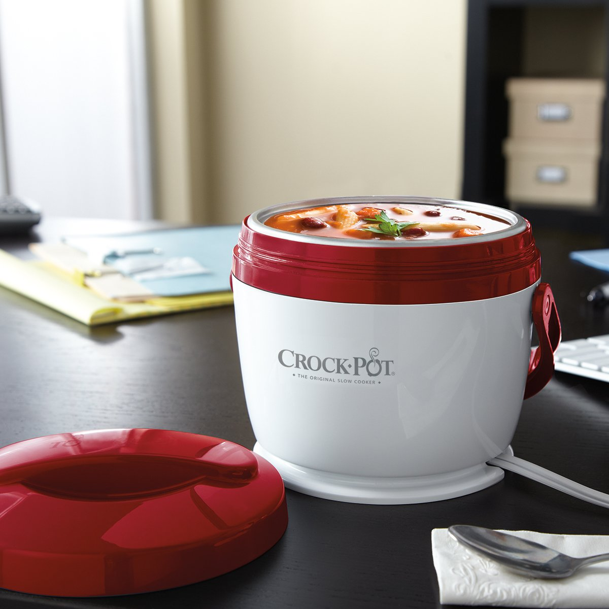 A Portable Mini Crock-pot that gets food ready by the time he gets home - 22 Unusual 1st Anniversary Gift Ideas - TodayWeDate.com