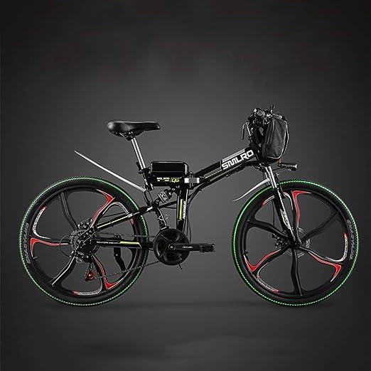 MERRYHE Bicicleta eléctrica Plegable Ciclomotor para Adultos ...