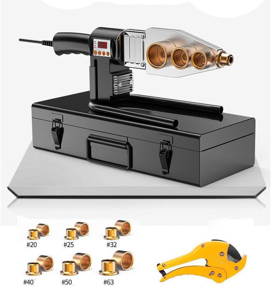 CX TECH Soldador de fusión Fusion Soldador de Tubo de plástico Máquina de Soldadura de Mano PPR, PE, PP, Tubo de PVC, Kit de Soldadura