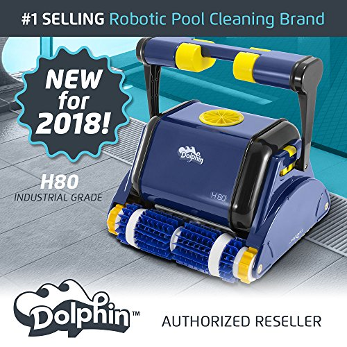 (Dolphin H80 Industrial Grade Robotic Pool Cleaner Ideal for Commercial Pools Up to 80 Feet)