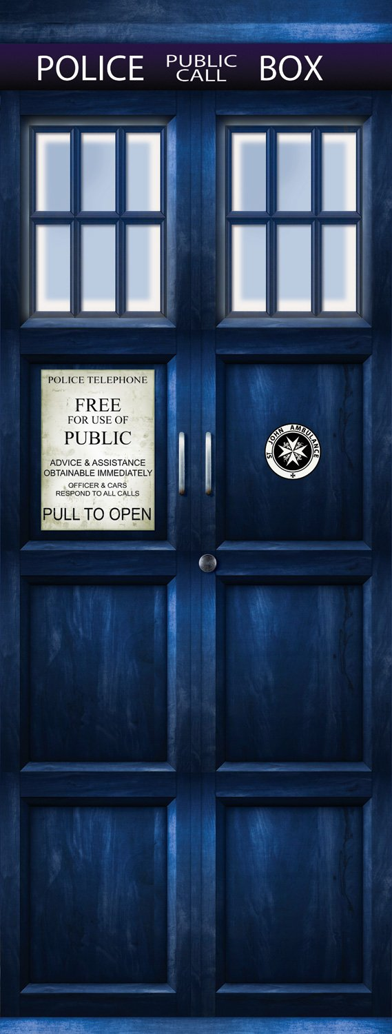 Amazon.com Wall Door STICKER Who Police box movie sticker mural decole film 30x79\  (77x200 Cm) Home \u0026 Kitchen & Amazon.com: Wall Door STICKER Who Police box movie sticker mural ...