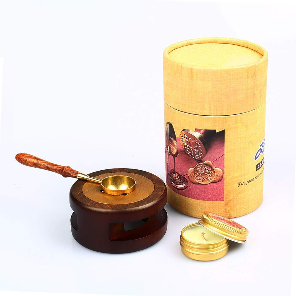 Set Metal Melting Stamp Spoon Warmer Seal Furnace Wax Metal Melting Stamp Stove