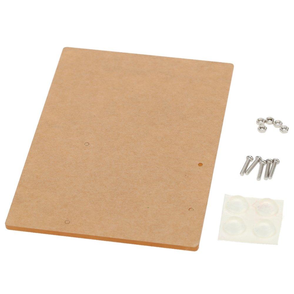 Walmeck Acrylic Experimental Platform Base-plate for Arduino UNO R3 Board Fixation 11.7cm8.1cm