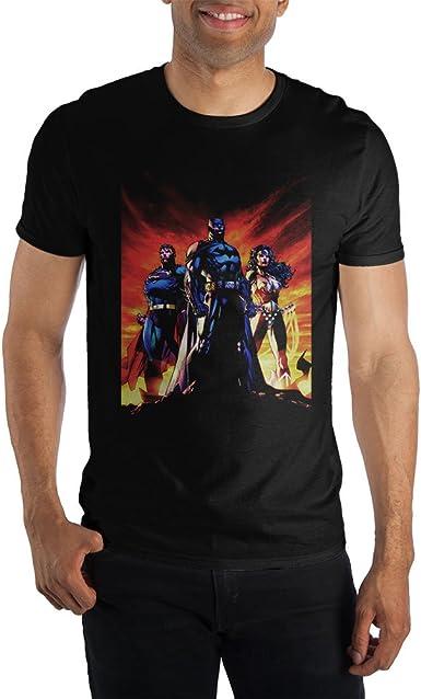 DC Comics Batman vs Superman Battle In Logo Mens Black T-Shirt