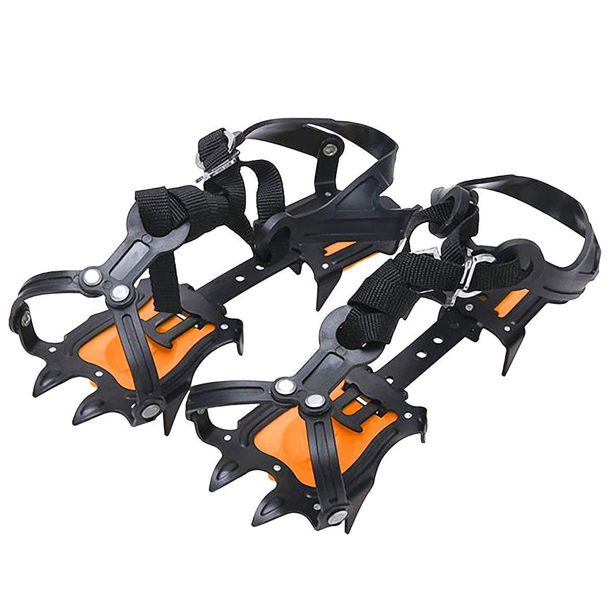 Walsilk Crampons Traction Cleats Spikes Snow Grips,Anti-Slip Stainless Steel Crampons for Mountaineering & Ice Climbing by Walsilk