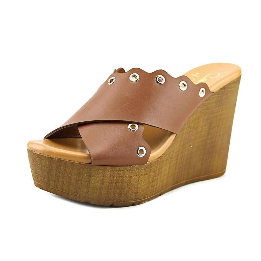 Callisto Womens Darcii Open Toe Casual Platform Sandals B07DR6MTH1 7 B(M) US|Cognac