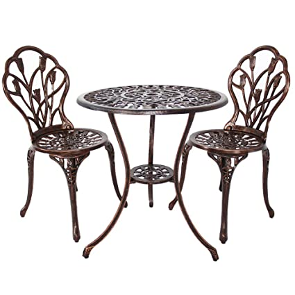 Image Unavailable  sc 1 st  Amazon.com & Amazon.com: HOMEFUN Bistro Table Set Outdoor Patio Set 3 Piece ...