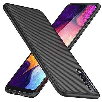TesRank Funda Samsung Galaxy A50, Suave y Duradera Carcasa de telefono con patrón de Tira [Antideslizante] [Resistente a los Arañazos] TPU Fundas para ...