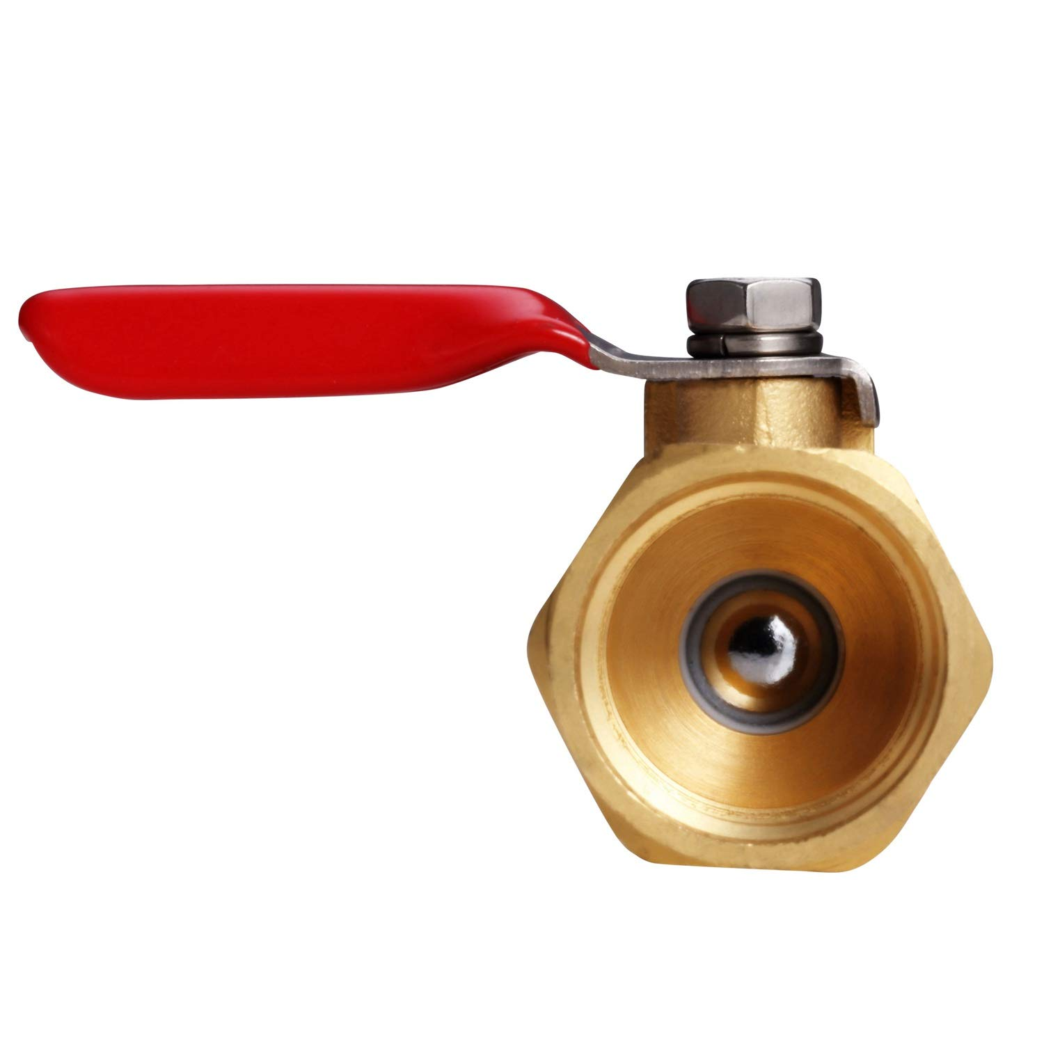 and Gas Rated to 600 WOG Water 180 Degree Operation Handle Oil 1//2 NPT Female x 1//2 INCH NPT Female Pipe Fittings Litorange 2 PCS Heavy Duty Brass Inline Mini Ball Valve Shut Off Switch