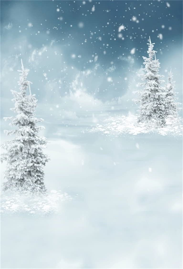 Beautiful Snowflakes Blue Backdrop Polyester 8x6.5ft New Year Celebration Background Child Kids Baby Adult Portrait Shoot Wintery Party Banner Greeting Card Studio Photo Props Wallpaper