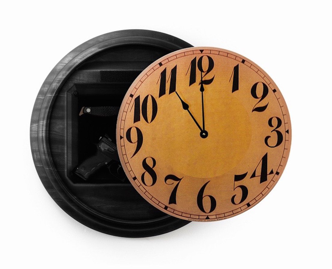 Home or Office Pistol Concealment Wall Clock - Made in USA