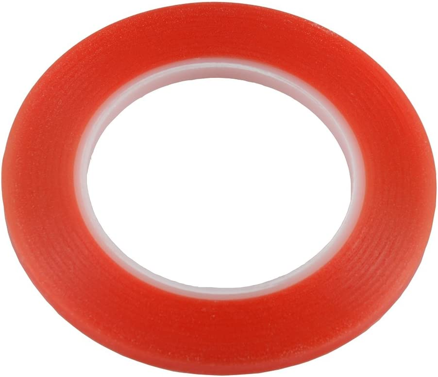 4mm 3M red Strong Sticky Glue Tape for Samsung iphone ipad Smart Phone Tablet Camera Lens Display Bezel Fix