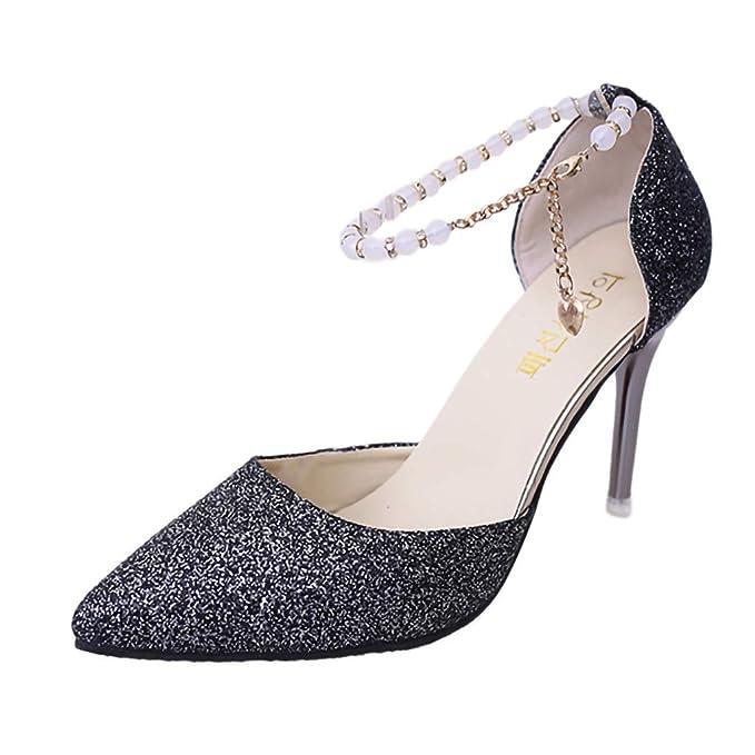 8e7bf993581 Amazon.com  Womens Stilettos - Wedding Dating Fine Heels - Female ...
