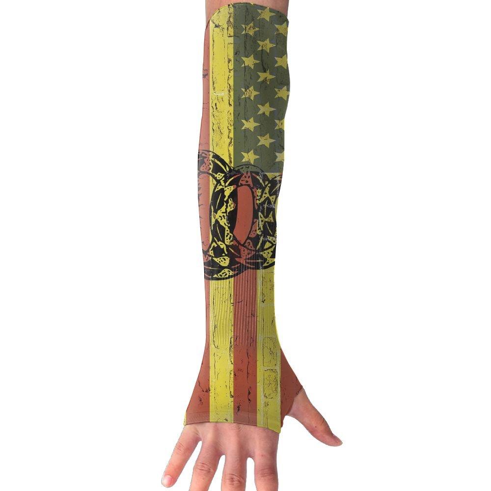 American Flag Don't Tread Snake Sun Sleeves UV Protection Cooling Arm Sleeves For Men Women