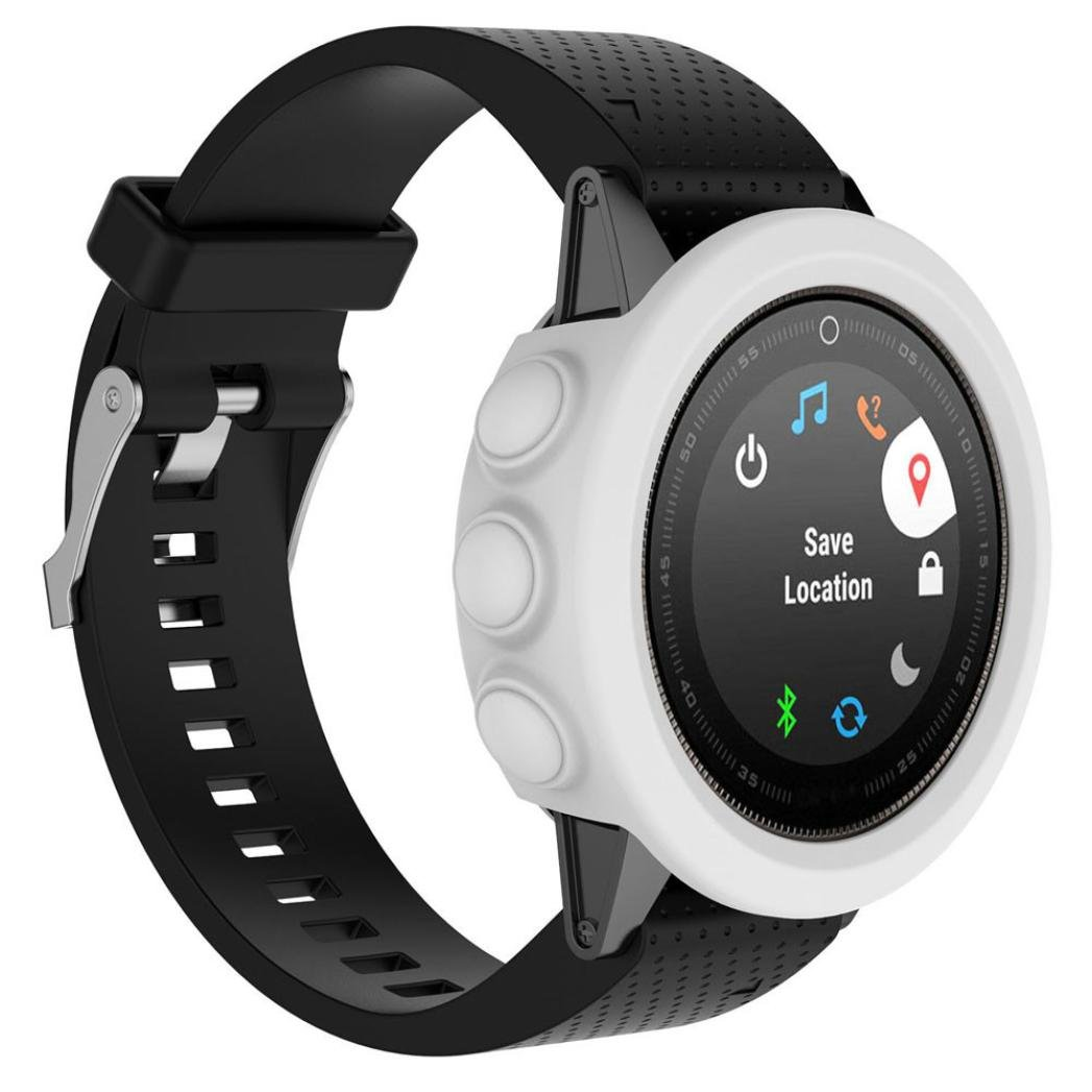 Case Cover For Garmin Fenix 5S GPS Watch Sinfu Replacement Silicon Slim Durable Protective Cover (H)
