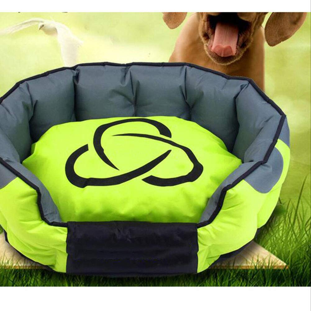 GREEN Dog's Nest Removable and Washable Four Seasons Universal Pet Bed Cat Nest Pet Nest (color   Green)