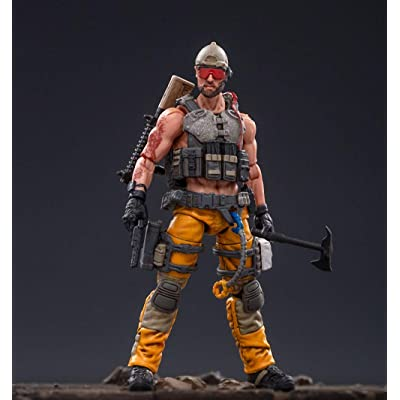 JoyToy 1/18 Soldier Action Figures 4-Inch Soldiers Anime Figure Dark Source Collection Action Figure Military Model Toys (Yellow): Toys & Games